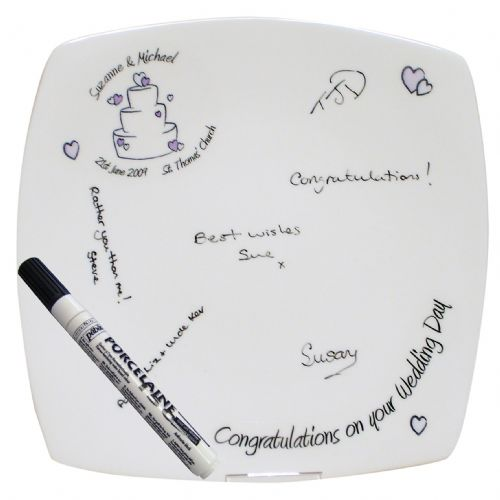 Personalised Cake Wedding Message Plate